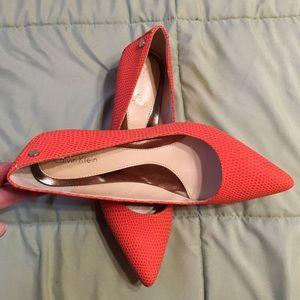 Calvin Klein kitten heel shoes